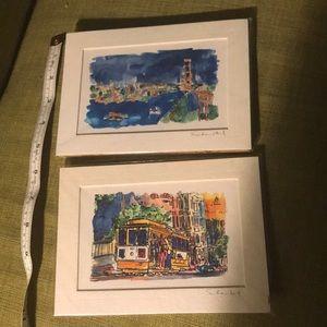 Set of 2 San Francisco watercolor prints
